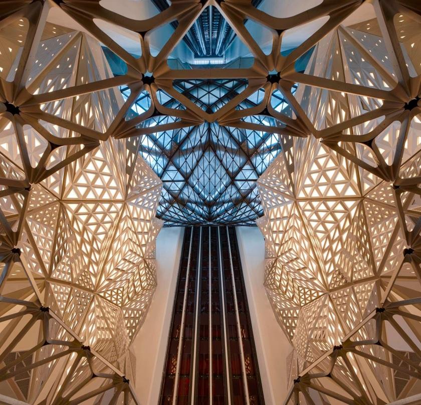 Morpheus Hotel atrium. Photo by Virgile Simon Bertrand